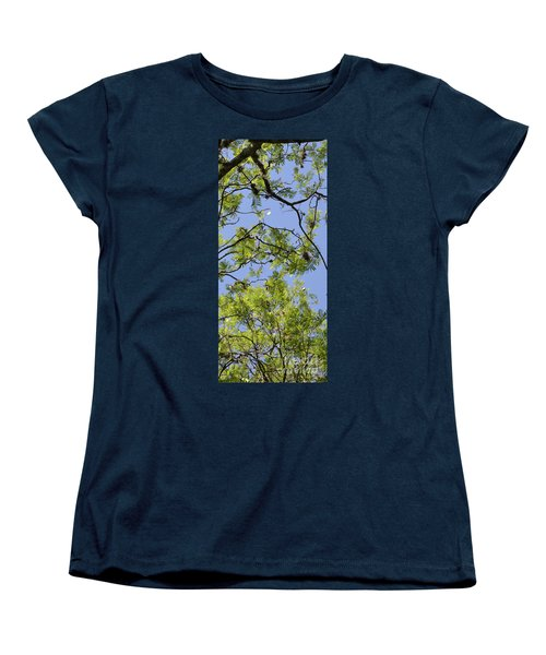 Greenery Right Panel Women's T-Shirt (Standard Cut) by Renie Rutten