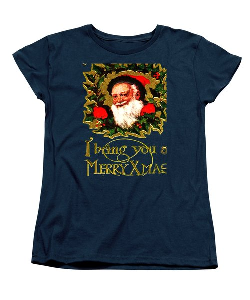 Greetings From Santa Women's T-Shirt (Standard Cut) by Asok Mukhopadhyay