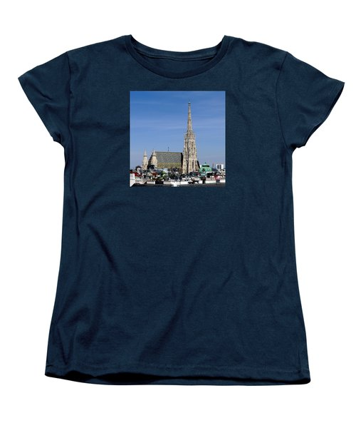 Greetings From Vienna Women's T-Shirt (Standard Cut) by Evelyn Tambour