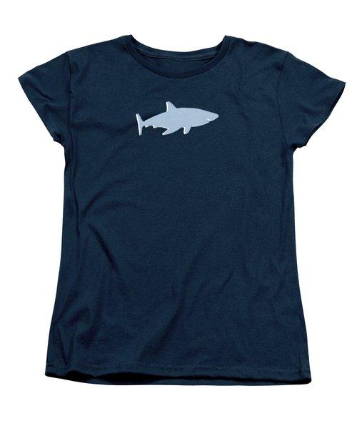 Grey And Yellow Shark Women's T-Shirt (Standard Cut) by Linda Woods