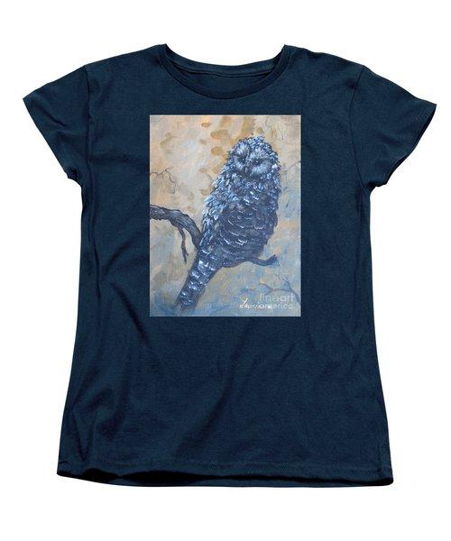Grey Owl1 Women's T-Shirt (Standard Cut) by Laurianna Taylor