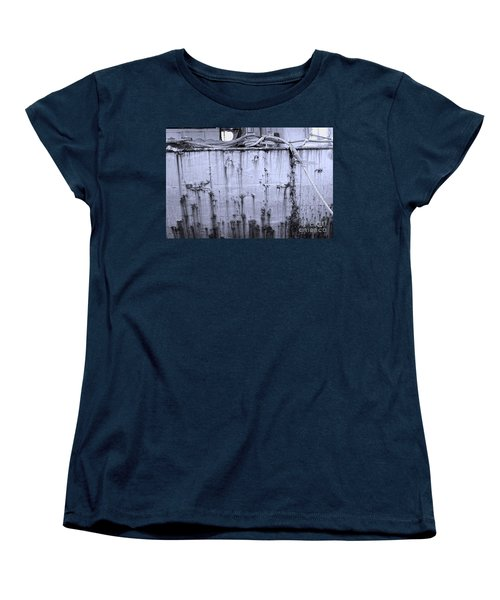 Women's T-Shirt (Standard Cut) featuring the photograph Grimy Old Ship Hull by Yali Shi