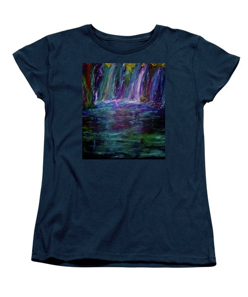 Women's T-Shirt (Standard Cut) featuring the painting Grotto by Heidi Scott