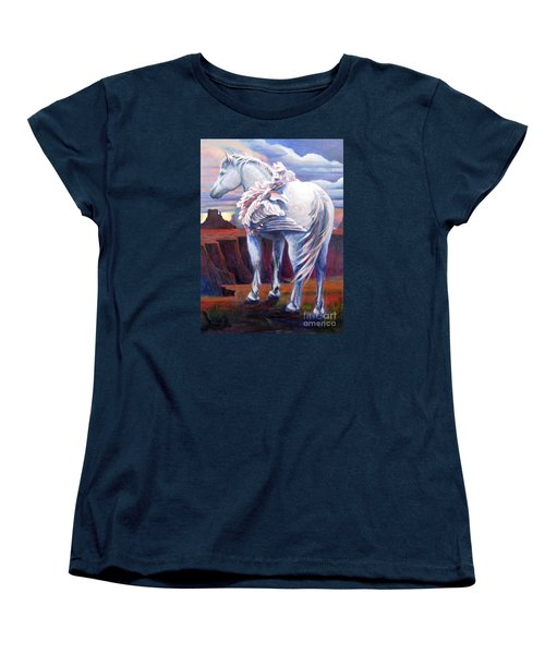Women's T-Shirt (Standard Cut) featuring the painting Grounded by Pat Burns