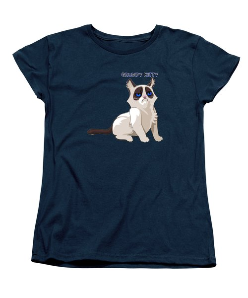 Grumpy Cat Women's T-Shirt (Standard Cut) by EricaMaxine  Price