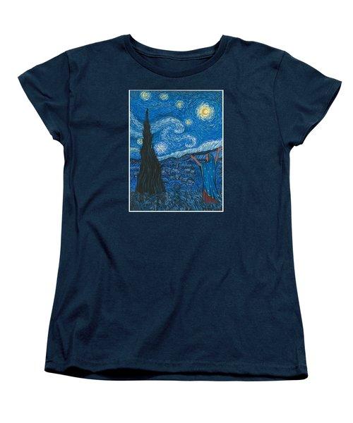 Guadalupe Visits Van Gogh Women's T-Shirt (Standard Cut) by James Roderick
