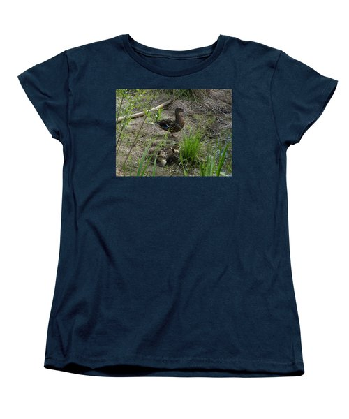 Guarding The Ducklings Women's T-Shirt (Standard Cut) by Donald C Morgan