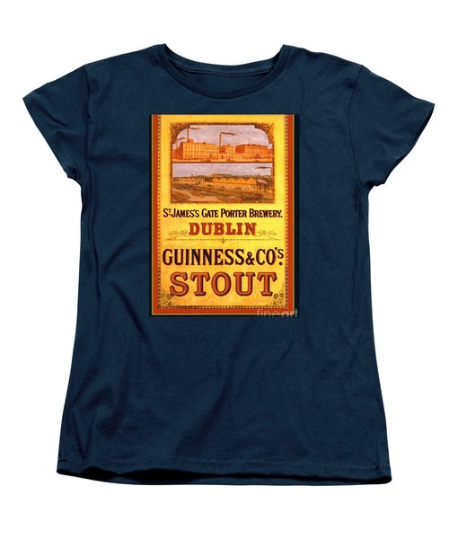 Women's T-Shirt (Standard Cut) featuring the painting Guinness - Stout by Pg Reproductions