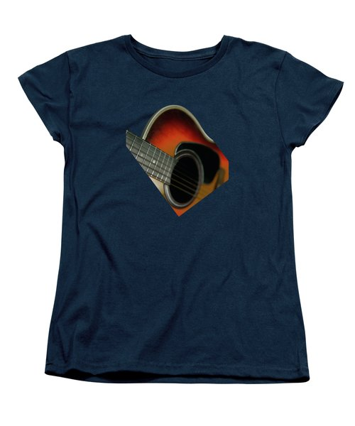 Women's T-Shirt (Standard Cut) featuring the photograph  Guitar  Acoustic Close Up by Bruce Stanfield