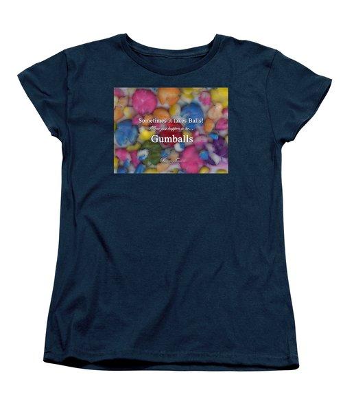 Gumballs #0000d Women's T-Shirt (Standard Cut) by Barbara Tristan