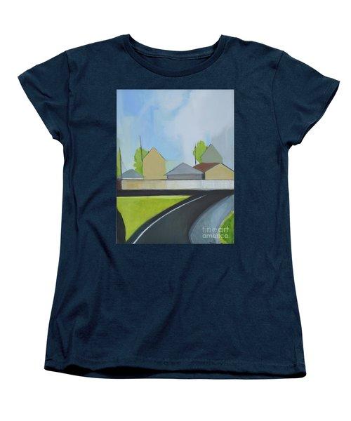 Hackensack Exit Women's T-Shirt (Standard Cut) by Ron Erickson