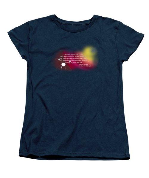 Hacking A Government Supercomputer Women's T-Shirt (Standard Cut) by Paulette B Wright