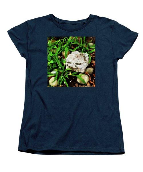 Haight Ashbury Smiling Rock Women's T-Shirt (Standard Cut)