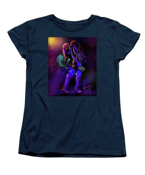 Hair Guitar Women's T-Shirt (Standard Cut) by DC Langer