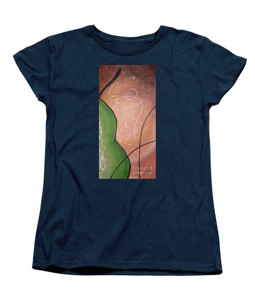 Half Pear Still Life Abstract Art By Saribelleinspirationalart Women's T-Shirt (Standard Cut)