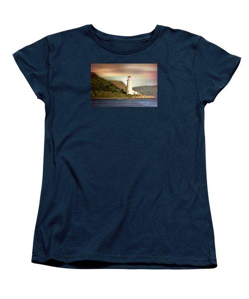 Halifax Harbor Lighthouse Women's T-Shirt (Standard Cut) by Diana Angstadt
