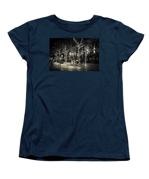 Women's T-Shirt (Standard Cut) featuring the photograph Handsome Cab In Monochrome by Kristal Kraft