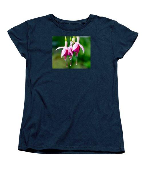 Hanging Flowers  Women's T-Shirt (Standard Cut) by Derek Dean