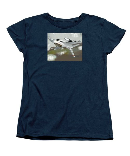 Women's T-Shirt (Standard Cut) featuring the digital art Hanging In The Seat by Walter Chamberlain