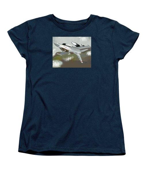 Hanging In The Seat Women's T-Shirt (Standard Cut) by Walter Chamberlain