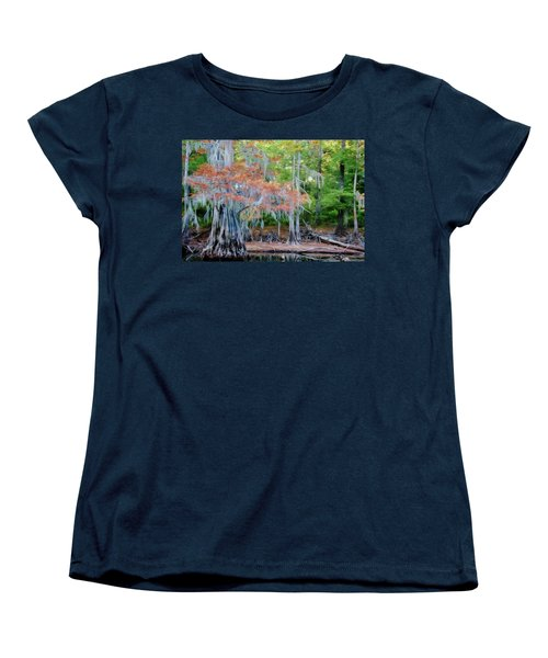 Women's T-Shirt (Standard Cut) featuring the photograph Hanging Rust by Lana Trussell
