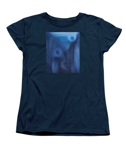 Women's T-Shirt (Standard Cut) featuring the painting Happiness Is Beside You by Min Zou