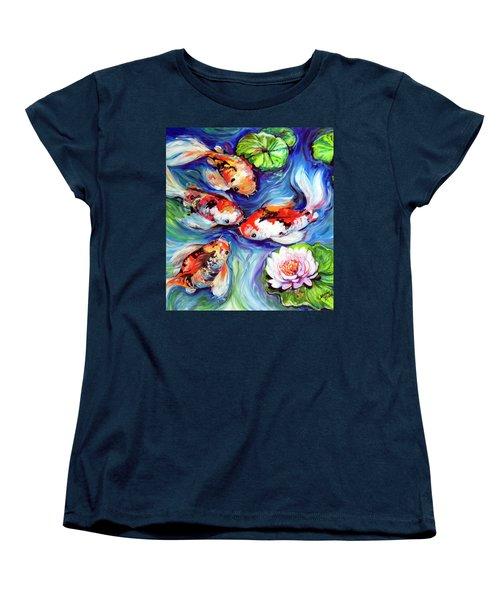 Happiness Koi Women's T-Shirt (Standard Cut) by Marcia Baldwin