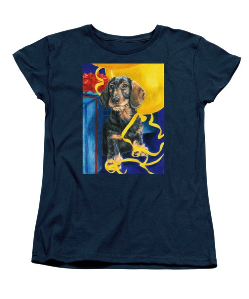 Women's T-Shirt (Standard Cut) featuring the drawing Happy Birthday by Barbara Keith