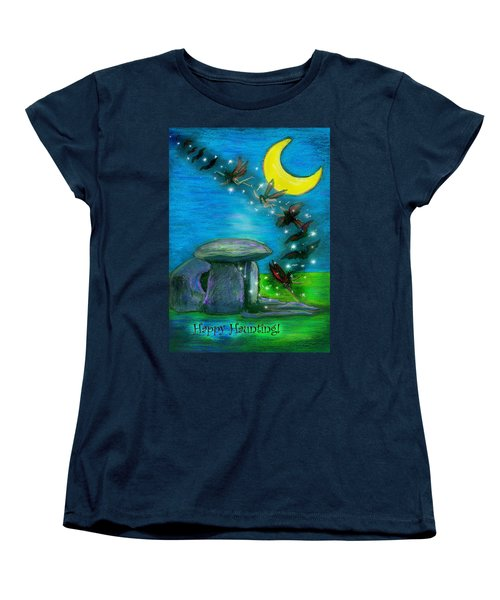 Happy Haunting Women's T-Shirt (Standard Cut) by Diana Haronis