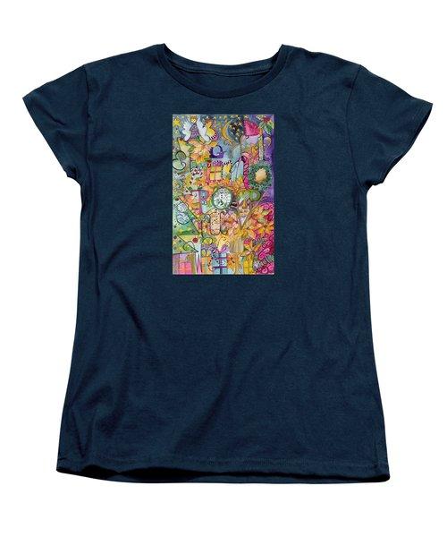 Happy Holidays Women's T-Shirt (Standard Cut) by Claudia Cole Meek