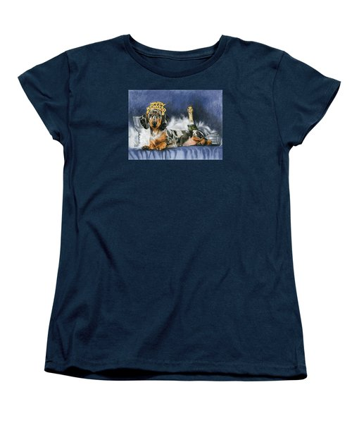 Women's T-Shirt (Standard Cut) featuring the mixed media Happy New Year by Barbara Keith