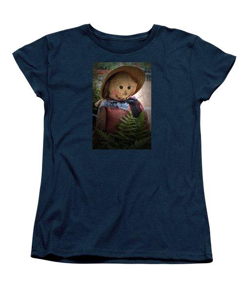 Women's T-Shirt (Standard Cut) featuring the photograph Happy Scarecrow by Karen Harrison