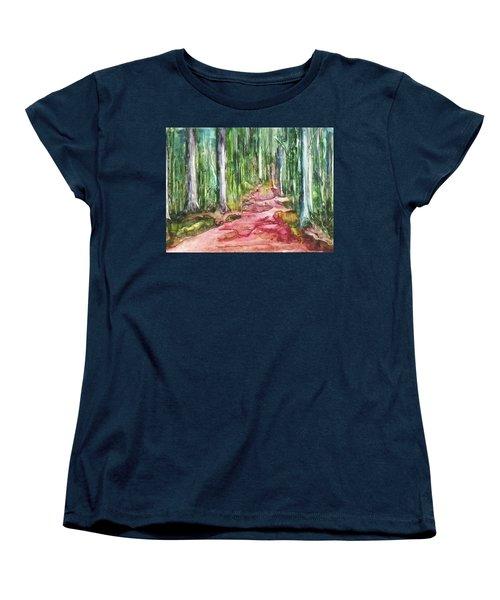 Happy Trail Women's T-Shirt (Standard Cut) by Anna Ruzsan
