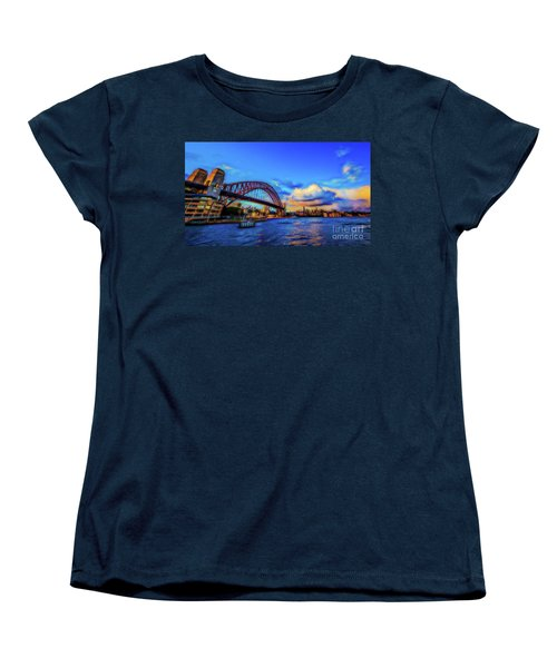 Women's T-Shirt (Standard Cut) featuring the photograph Harbor Bridge by Perry Webster