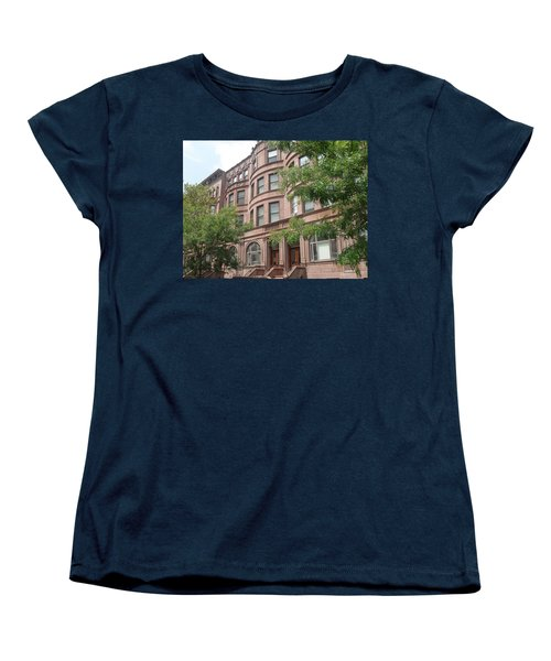 Women's T-Shirt (Standard Cut) featuring the photograph Harlem Brownstones by Vannetta Ferguson