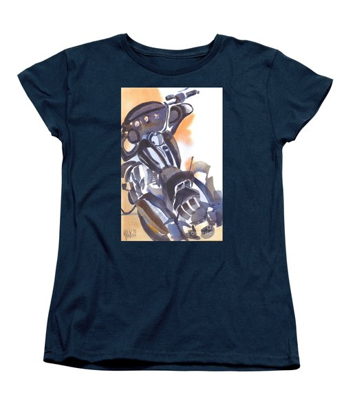 Women's T-Shirt (Standard Cut) featuring the painting Motorcycle Iv by Kip DeVore