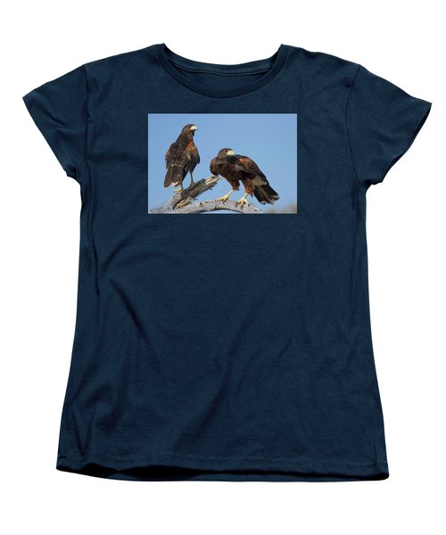 Harris Hawks Women's T-Shirt (Standard Cut) by Elvira Butler