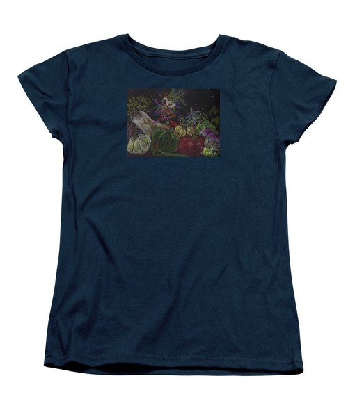 Women's T-Shirt (Standard Cut) featuring the drawing Harvest by Dawn Fairies