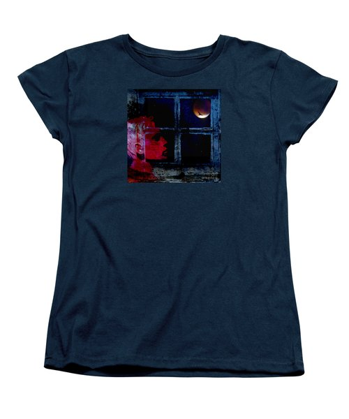 Women's T-Shirt (Standard Cut) featuring the photograph Harvest Moon by LemonArt Photography