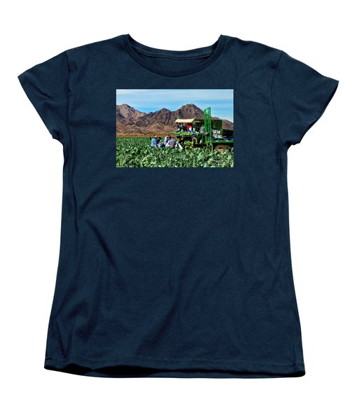 Harvesting Broccoli Women's T-Shirt (Standard Cut) by Robert Bales