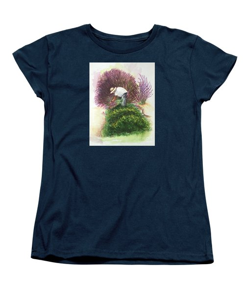 Harvesting Lavender Women's T-Shirt (Standard Cut) by Lucia Grilletto