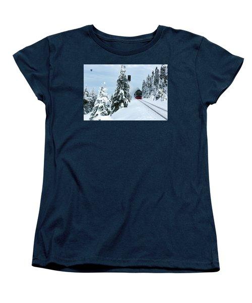 Harz Ballooning And Brocken Railway Women's T-Shirt (Standard Cut) by Andreas Levi