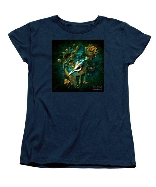 Women's T-Shirt (Standard Cut) featuring the painting Hatpin by Alexa Szlavics