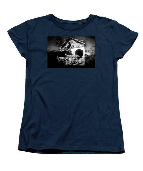 Haunted House Women's T-Shirt (Standard Cut) by Celso Bressan