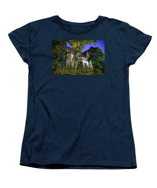 Haunted House Women's T-Shirt (Standard Cut) by Teemu Tretjakov