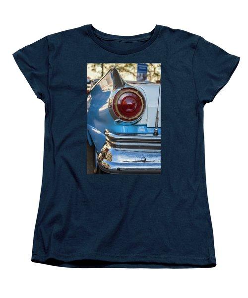 Women's T-Shirt (Standard Cut) featuring the photograph Havana Cuba Vintage Car Tail Light by Joan Carroll