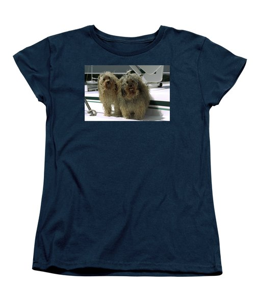 Women's T-Shirt (Standard Cut) featuring the photograph Havanese Dogs by Sally Weigand