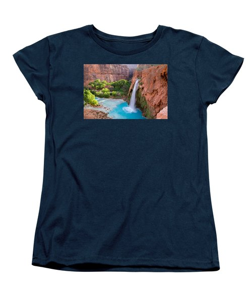 Havasu Falls, Arizona 2 Women's T-Shirt (Standard Cut) by Serge Skiba
