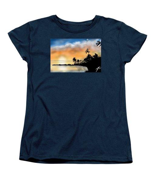 Hawaii Beach Women's T-Shirt (Standard Cut) by Darren Cannell