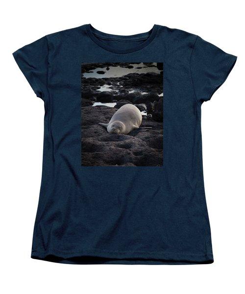 Hawaiian Monk Seal Women's T-Shirt (Standard Cut) by Roger Mullenhour